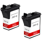 Pitney-Bowes 797-0 red ink cartridges - twin pack