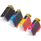 4 Pack - Compatible replacement for Canon BCI-3e series ink cartridges