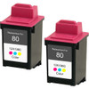 Twin Pack - Remanufactured replacement for Lexmark #80 (12A1980)