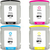 4 Pack - Remanufactured replacement for HP 10 and 11 series ink cartridges