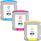 3 Pack - Remanufactured replacement for HP 10 series ink cartridges