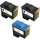 3 Pack - Remanufactured replacement for Dell series 1 ink cartridges