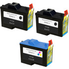 3 Pack - Remanufactured replacement for Dell series 2 ink cartridges