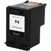 Remanufactured replacement for HP 94 (C8765WN) black ink cartridge