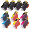 10 Pack - Compatible replacement for Canon BCI-3 Black and BCI-6 Color ink cartridges