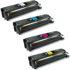 4 Pack - Remanufactured replacement for HP 122A (C3960A, C3961A, C3962A, C3963A) series laser toner cartridges