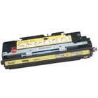 Remanufactured replacement for HP 309A (Q2672A) yellow laser toner cartridge