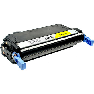 Remanufactured replacement for HP 645A (C9732A) yellow laser toner cartridge