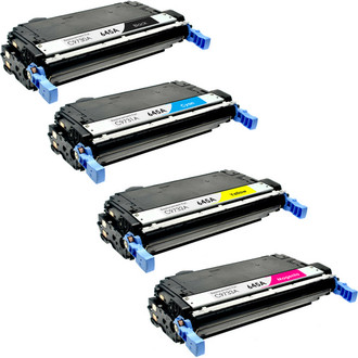 4 Pack - Remanufactured replacement for HP 645A series toner cartridges (C9730A, C9731A, C9732A, C9733A)