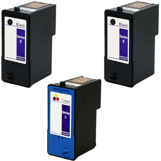 3 Pack - Remanufactured replacement for Dell series 5 ink cartridges