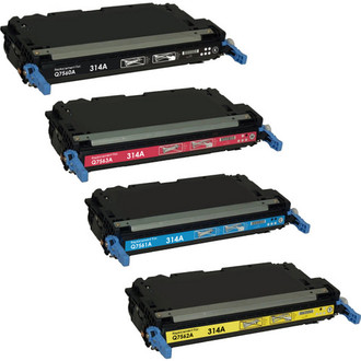 4 Pack - Remanufactured replacement for HP 314A series laser toner cartridges