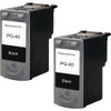 Twin Pack - Remanufactured replacement for Canon PG-40 (0615B002) black ink cartridges