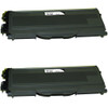 Twin Pack - Compatible replacement for Brother TN360 black laser toner cartridge.