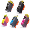 5 Pack - Compatible replacement for Canon PGi-220 and Cli-221 series ink cartridges