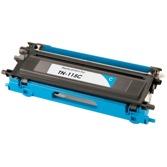 Remanufactured replacement for Brother TN115C cyan laser toner cartridge