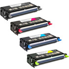 4 Pack - Remanufactured replacement for Dell 310-8092 series laser toner cartridges