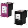 HP 60 series ink cartridges two pack