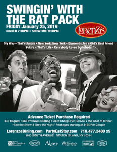 Swingin' with The Rat Pack, Friday January 25th 2019
