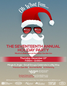 The Seventeenth Annual Holiday Party - Thursday, December 13th 2018
