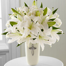 communion, confirmation, wedding, sympathy flowers, white lily, lillies
