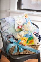 Welcome Home Baby Boy Basket