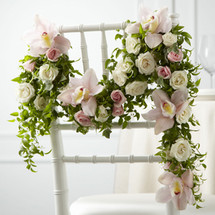 Orchid Rose Chair Décor