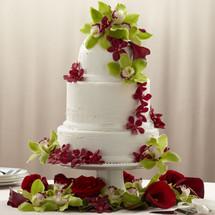 Elegant Orchid Cake Décor