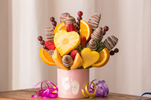 Baby Girl Fruit Arrangement