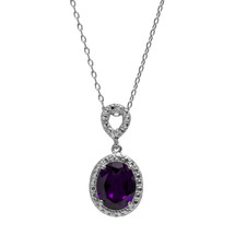 Amethyst Jewel Necklace (February Birthstone)
