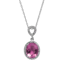 Pink Sapphire Jewel Necklace (June Birthstone)