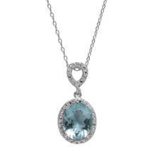 Aquamarine Jewel Necklace (March Birthstone)