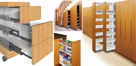 Drawer Slides & Cabinet Door Slides - Drawer Slides - Kitchen Cabinet Slides ...