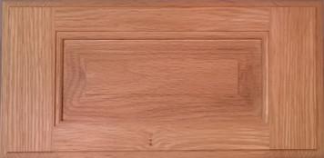 DTDF 1058HZ - Drawer Front Solid Wood - Red Oak