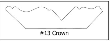 #13 Crown Dentil -¾ x 3 5/8 x8'