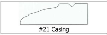 #21 Casing -¾ x 2 ½ x8'