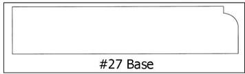 #27 Base ¾ x 3 7/8 x8'