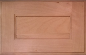 DTDF 1058HZF - Drawer Front Solid Wood - White Birch