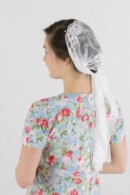 White Rose Head Scarf