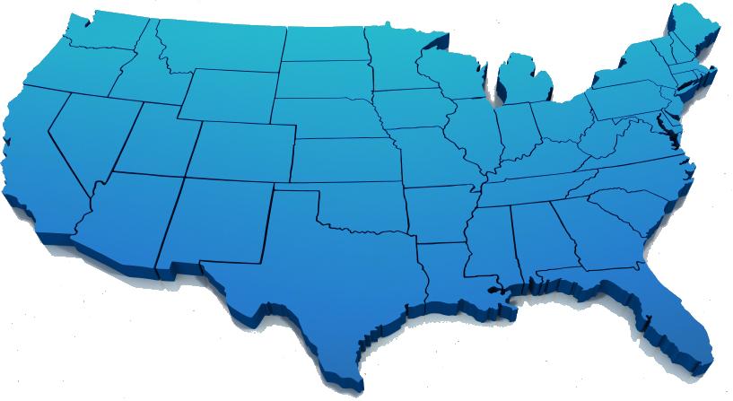 Usa Map Ups - Continental map of usa