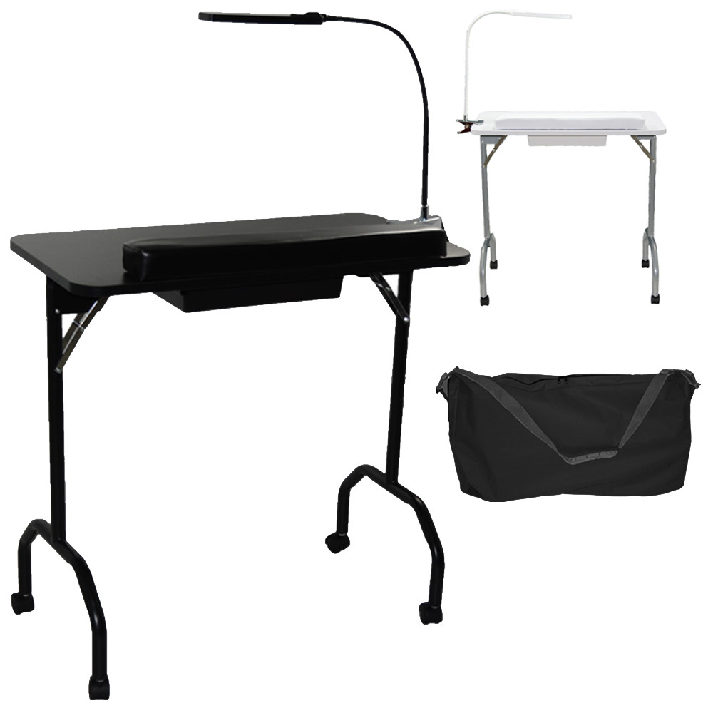 portable nail table pro 5103 portable manicure table with led lamp lcl beauty