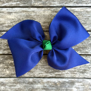 The April- Navy with Hunter Knot