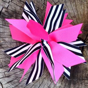 Hot Pink/Black Stripe