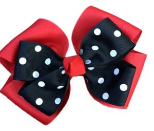 The Siena Marie Polka Dot- Red & Black