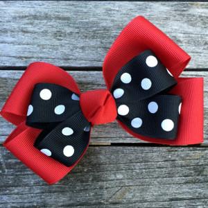 The Siena Marie Junior Polka Dot- Red & Black
