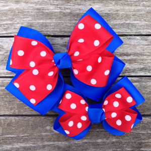 The Siena Marie Junior Polka Dot- Royal & Red