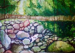 Landscape,Nature,Tree,bridge in green