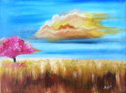 A tree ,Landscape,Nature,scenery,Sky