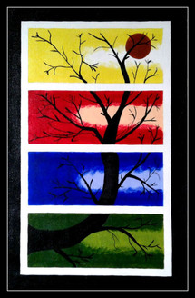 Tree,Nature,Multicolor tree,Multipiece tree