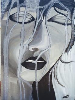 Wet Face,Figurative,Female,Women,Lady