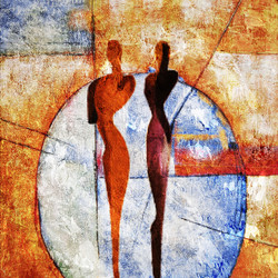 Couple,Pair,Stroke,Abstract